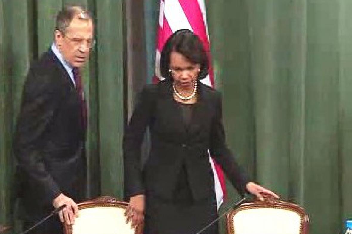 Sergej Lavrov a Condoleezza Riceová