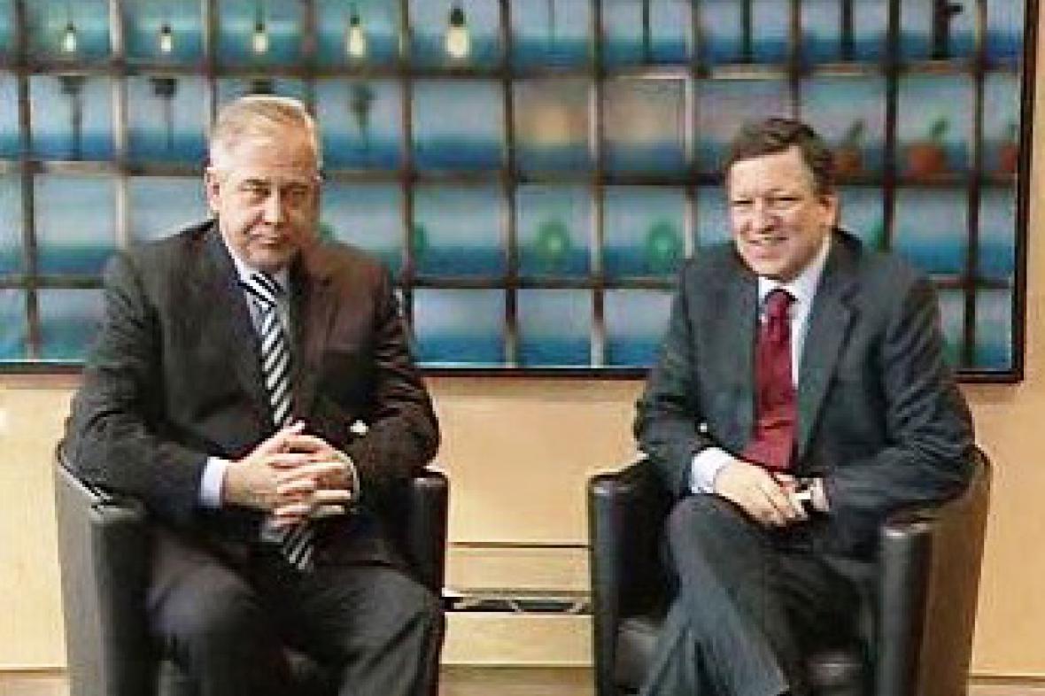 Ivo Sanader a José Manuel Barroso