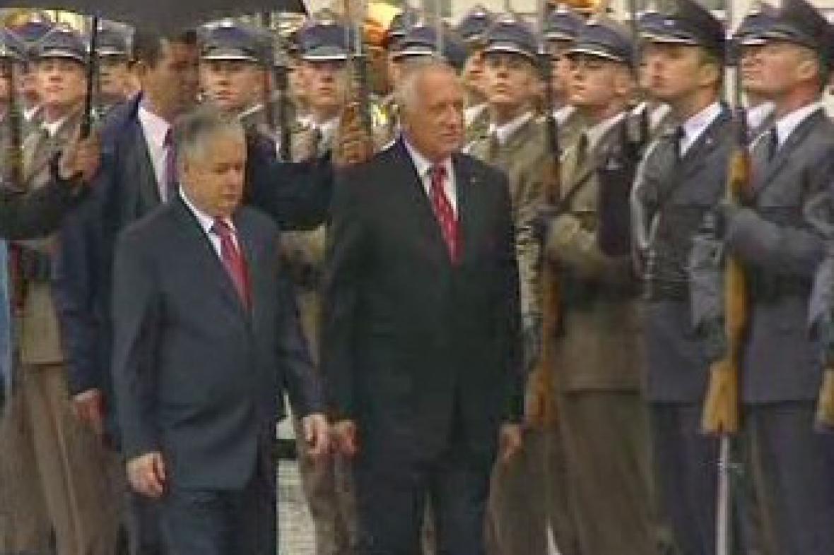 Prezidenti Klaus a Kaczyńsky