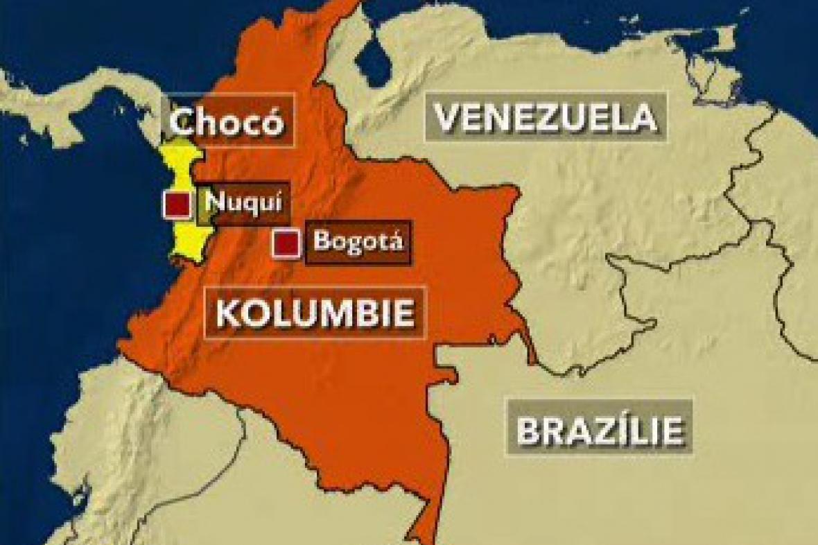 Mapka Kolumbie