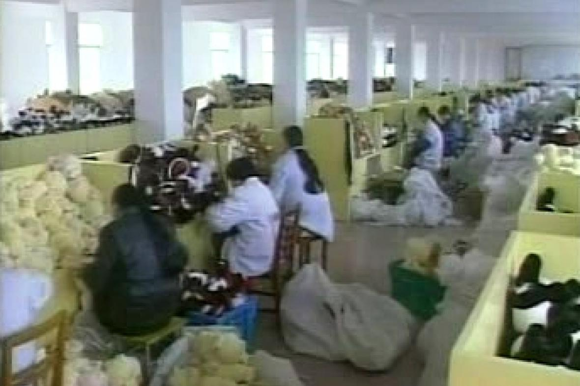 Výroba hraček v Číně