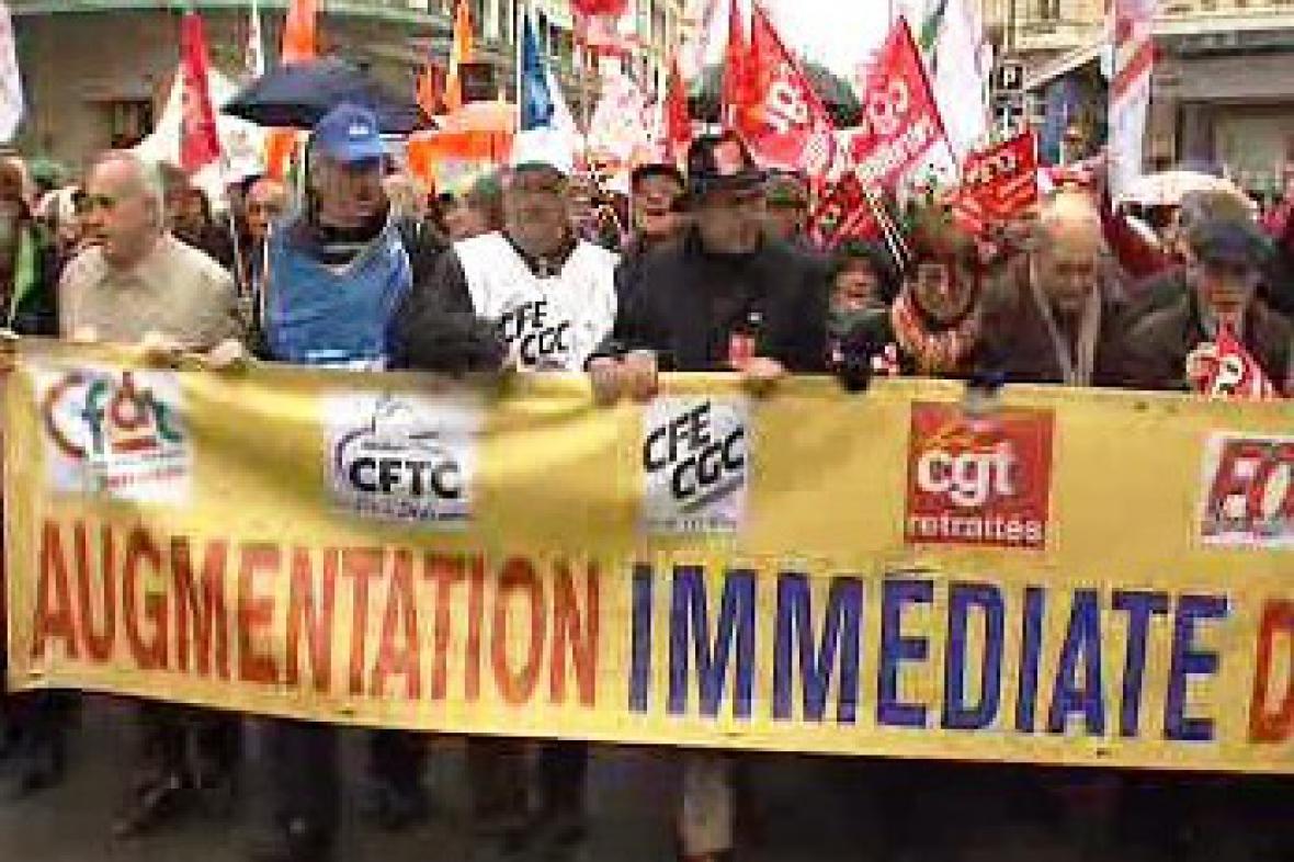 Demonstrace francouzských důchodců