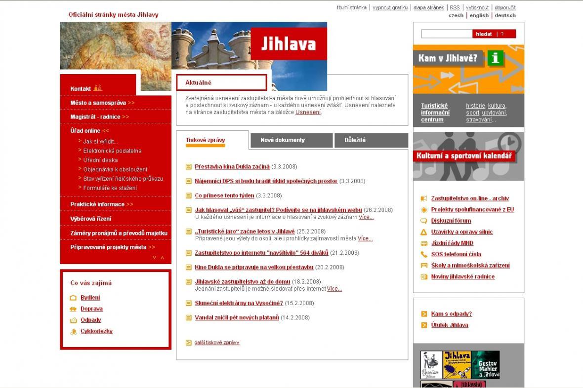 Oficiální stránky města Jihlavy