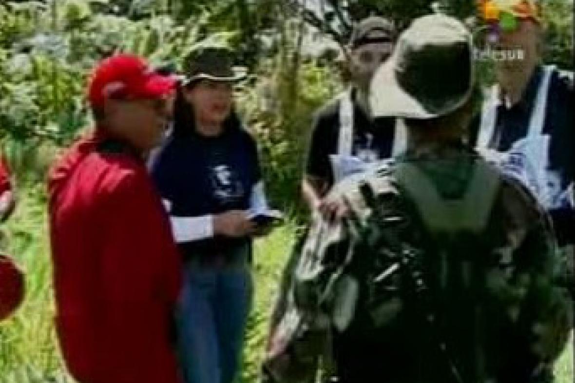 Předávání rukojmích zadržovaných FARC