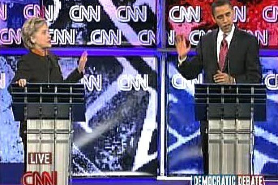 Debata Clintonová-Obama