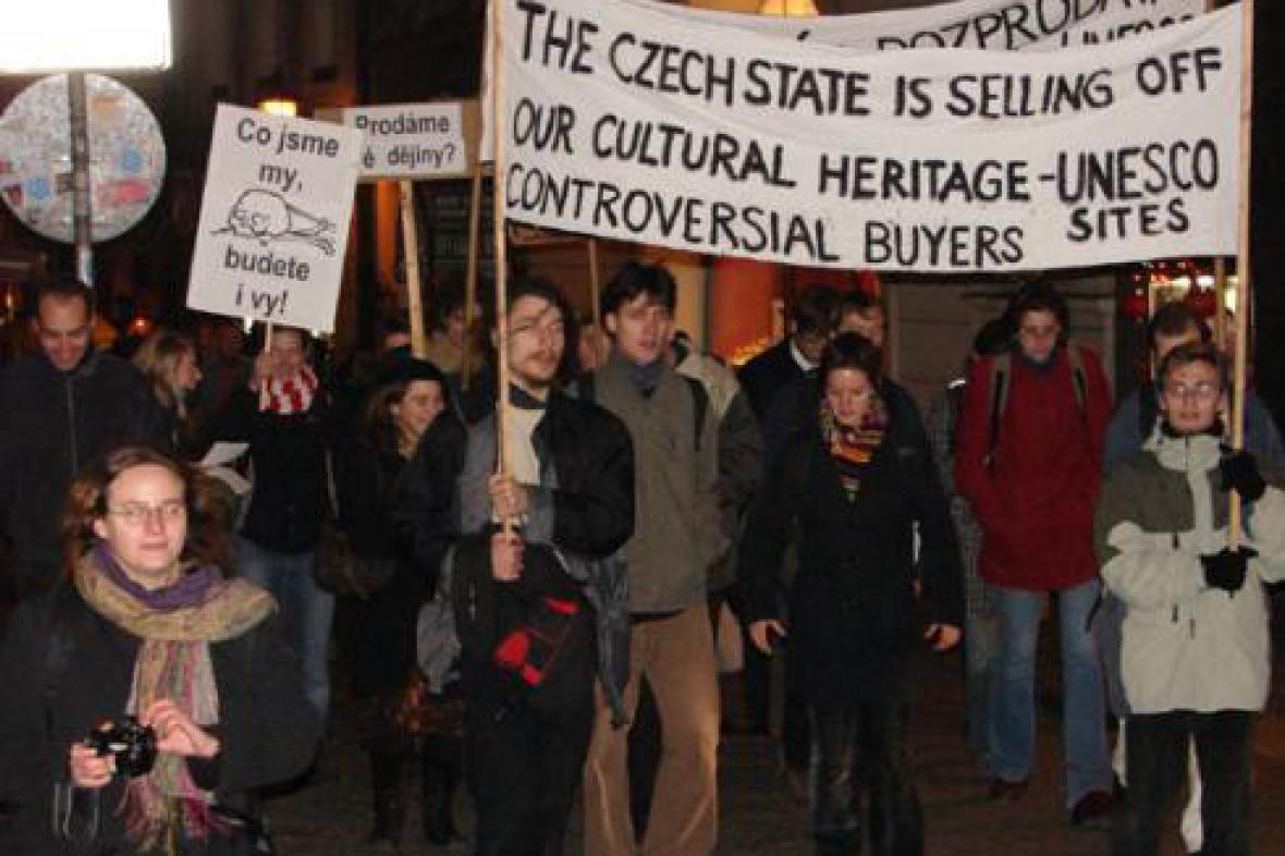 Protestní akce za záchranu kostela sv. Michaela