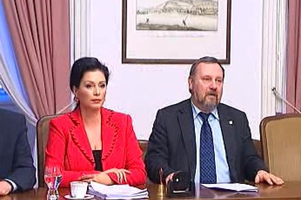 Jana Bobošíková a Pavel Kováčik