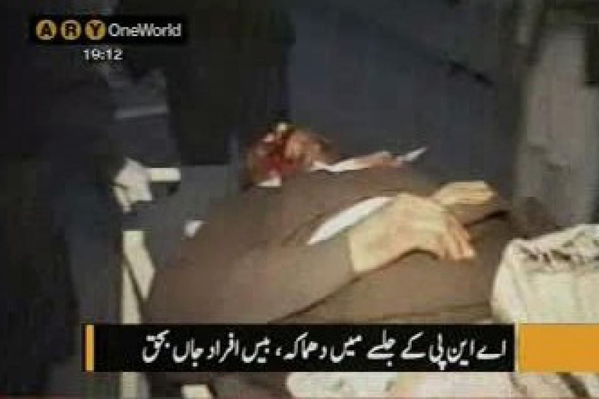 Oběť bombového útoku