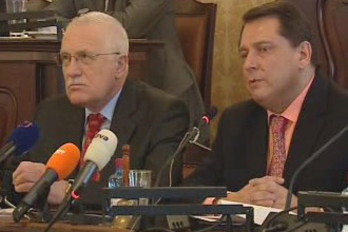 Václav Klaus a Jiří Paroubek