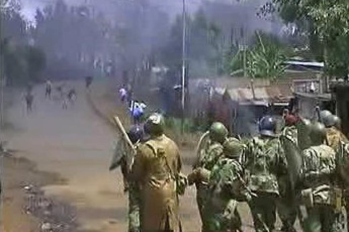 Demonstrace v Keni