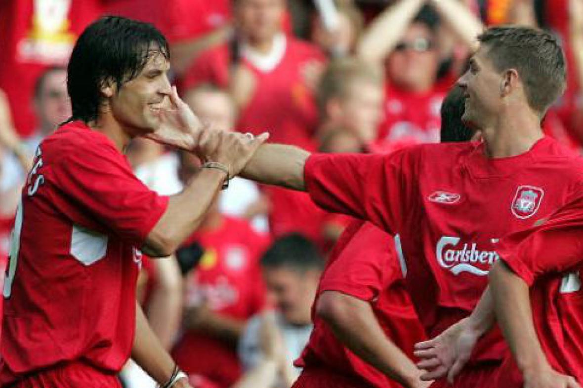 Radost hráčů Liverpoolu
