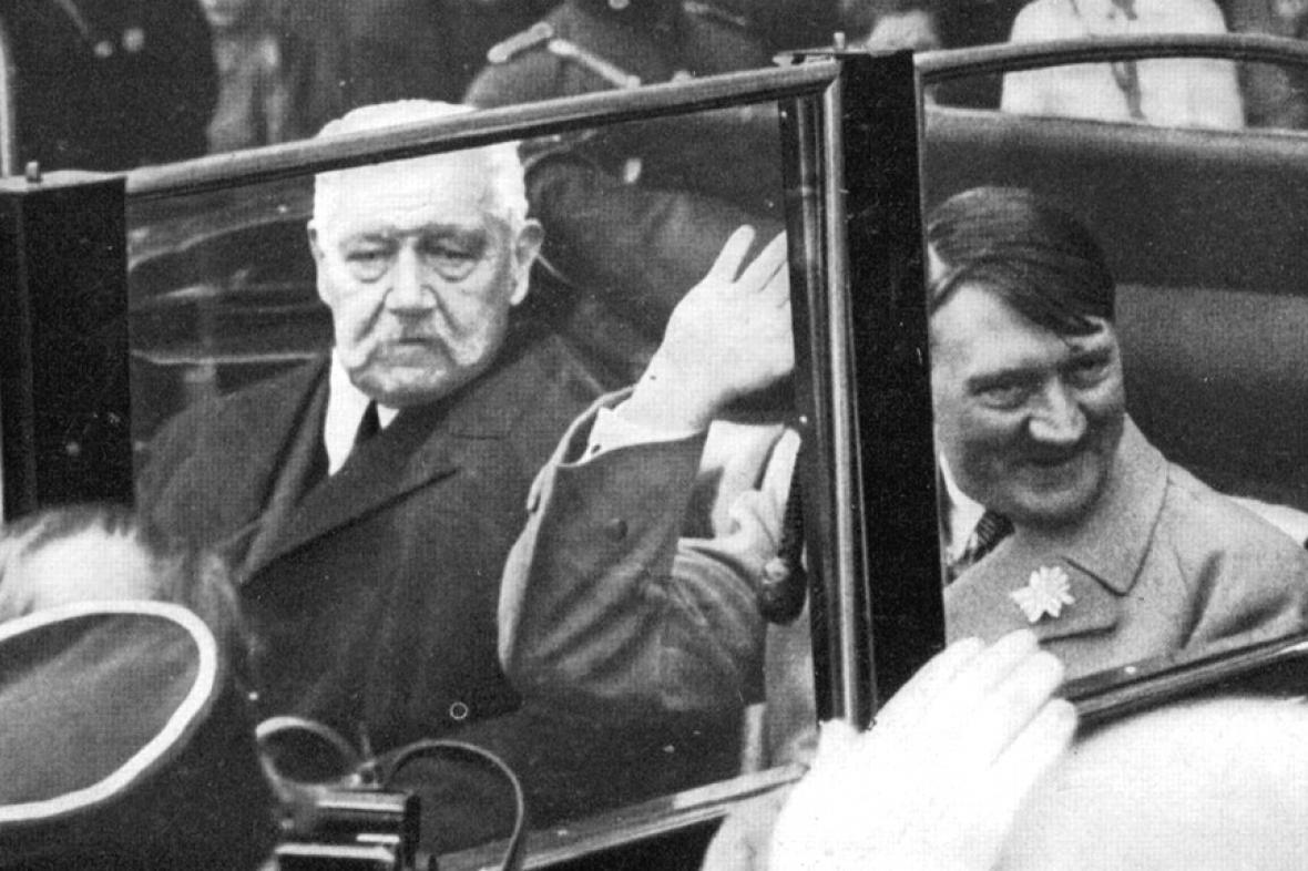 Hitler s prezidentem Hindenburgem v lednu 1933