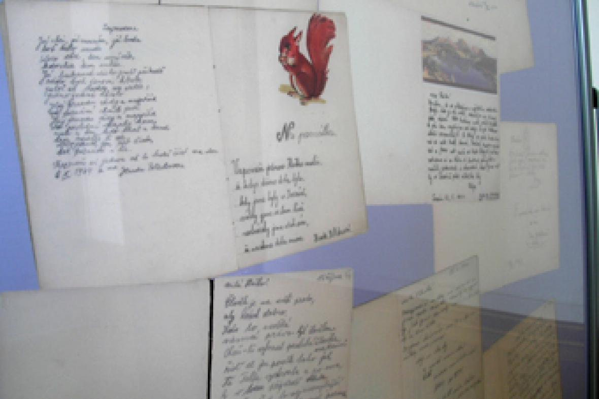 Na výstavě jsou k vidění i deníky, které si vedla děvčata na pokoji 28