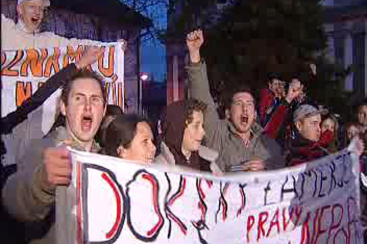 Studenti demonstrují