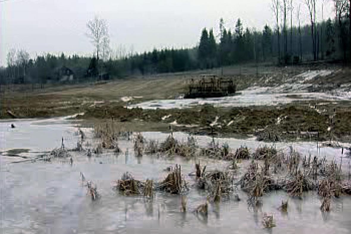 Naleziště vltavínů před rekultivací
