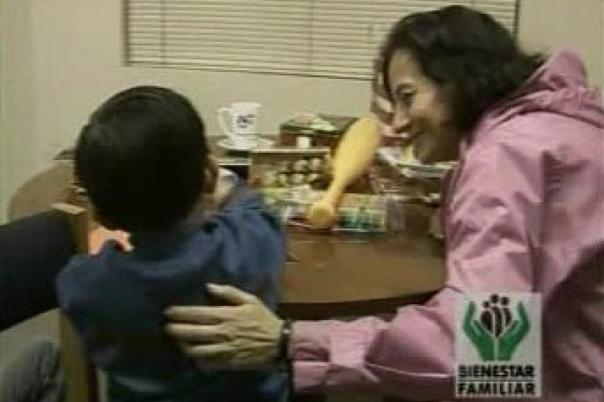 Clara Rojasová se synem Emanuelem