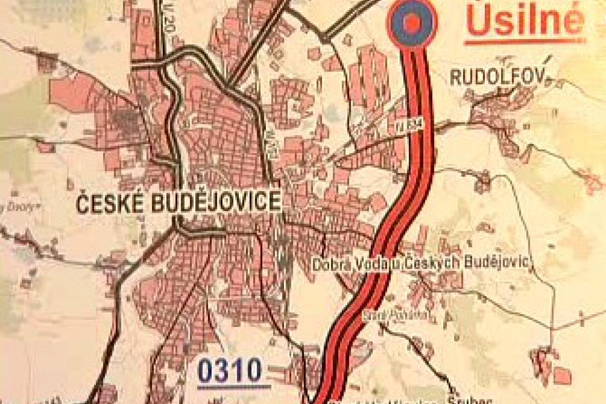 Mapa Českých Budějovic