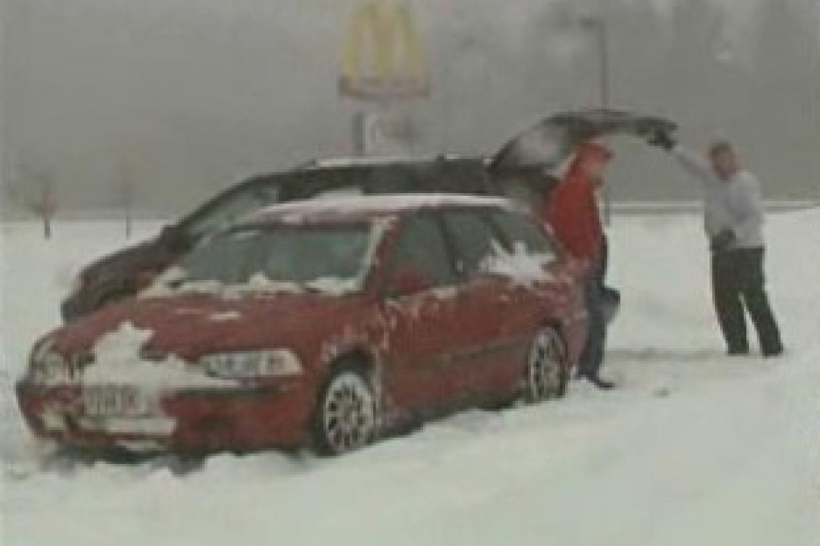 Sněhová bouře v Kanadě