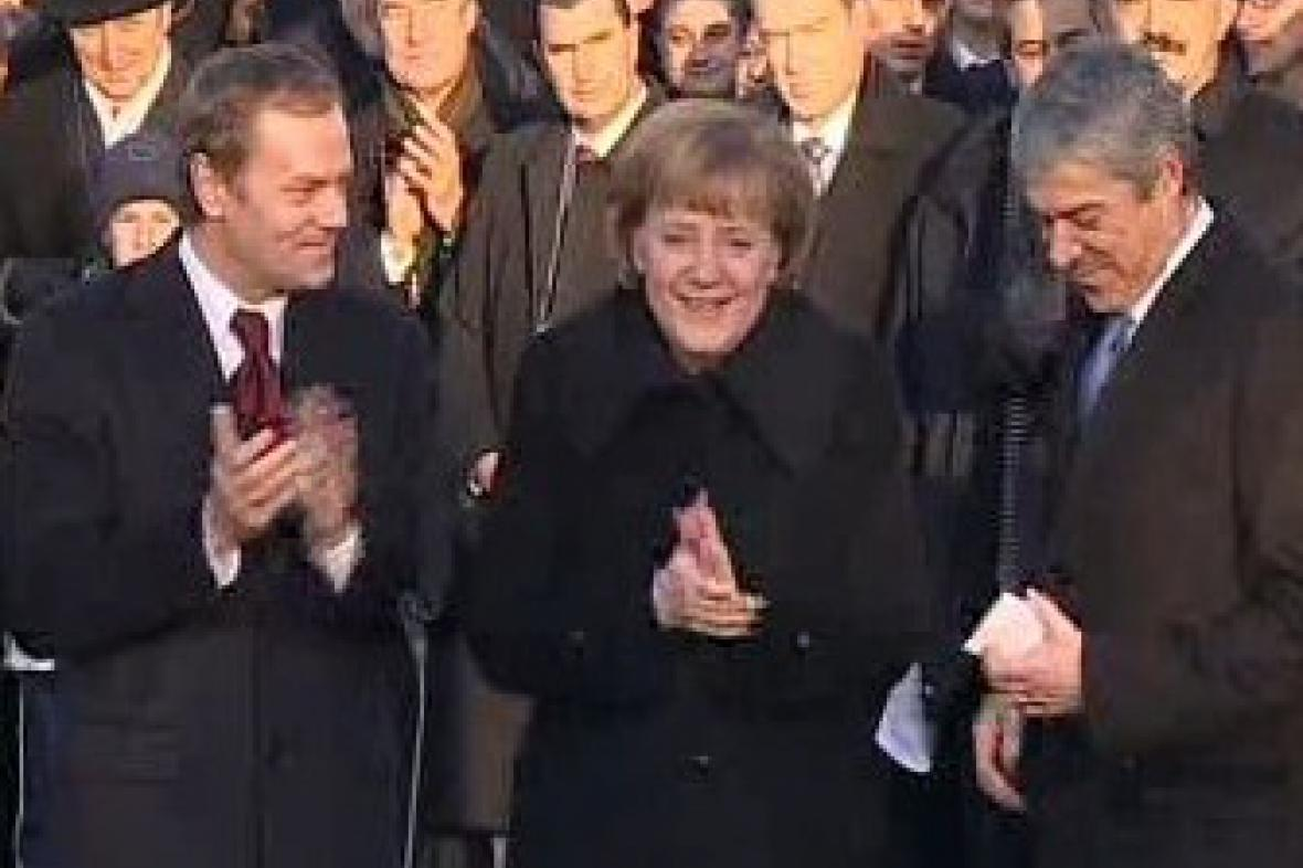 Angela Merkelová, Donald Tusk a José Barroso