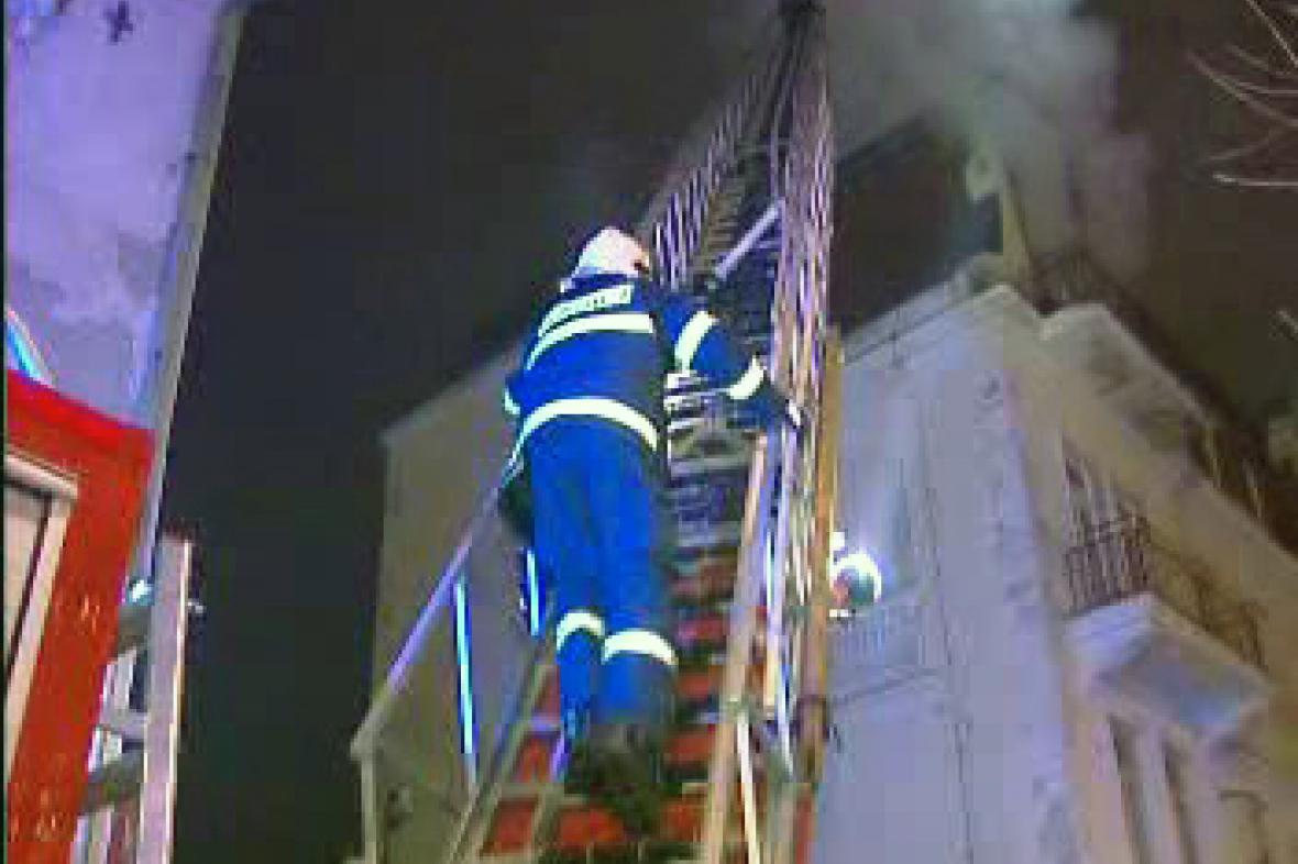 Požár v centru Mariánských Lázních