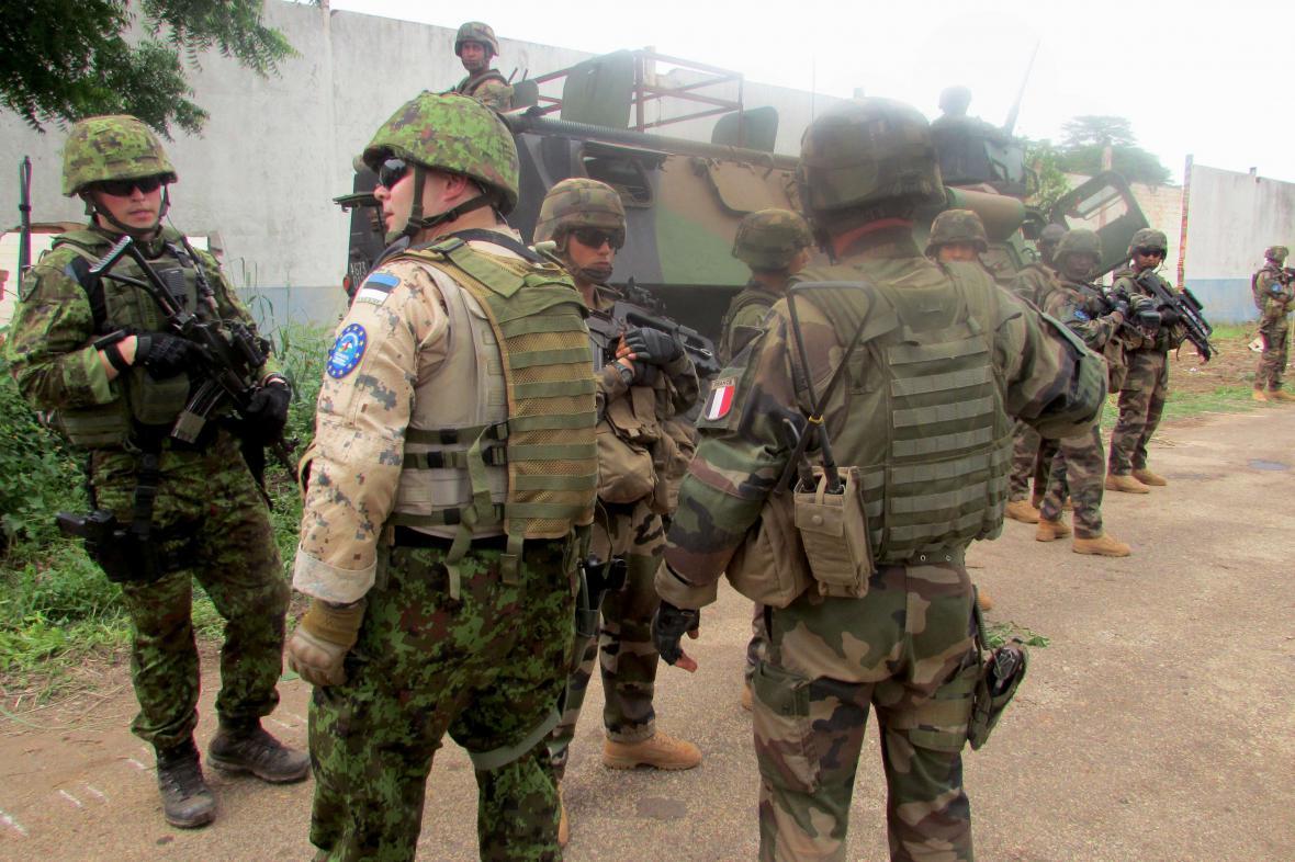 Vojáci EU v Bangui