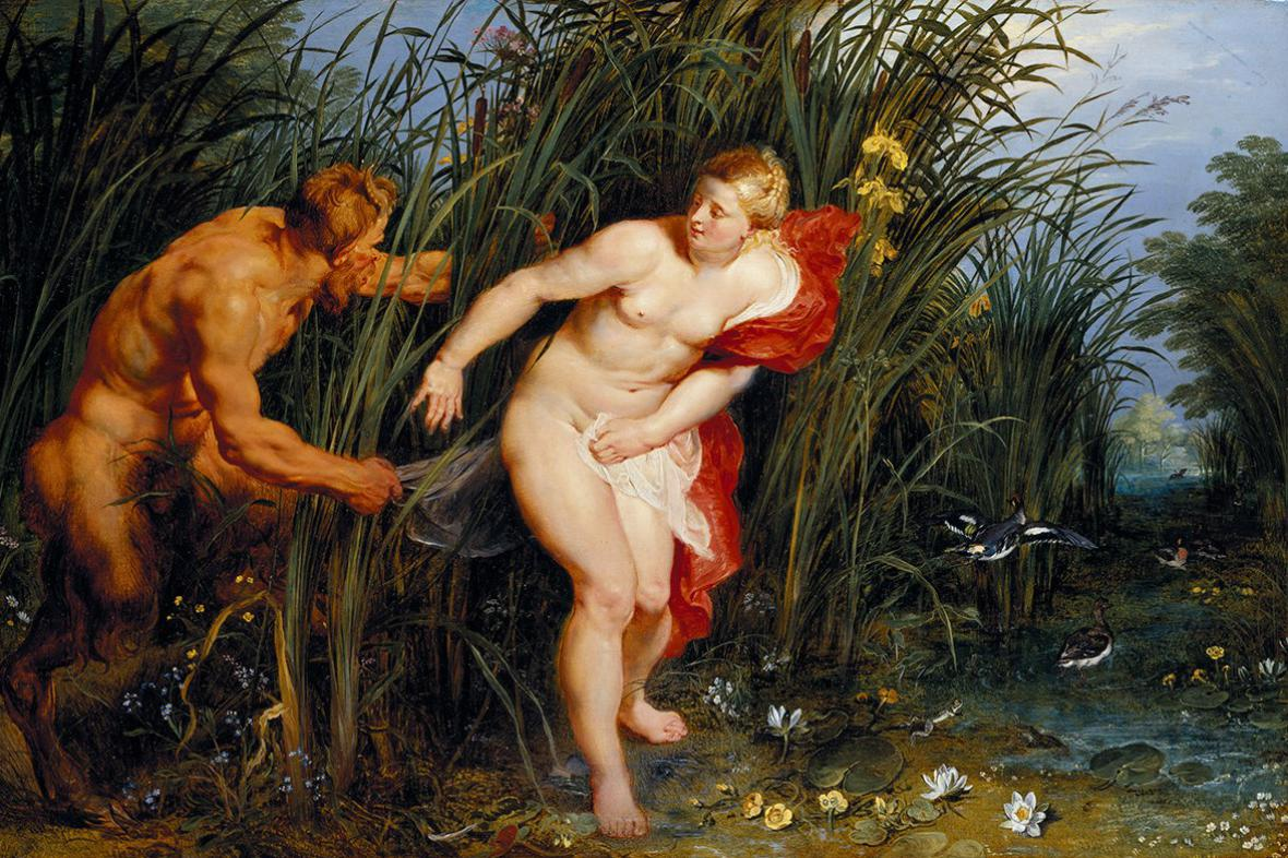 Peter Paul Rubens / Pan a Syrinx (1617)