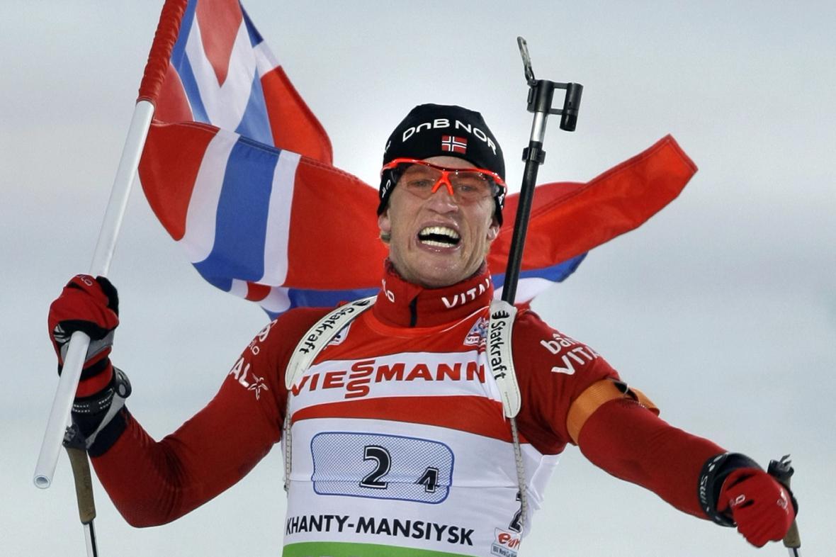 Norský biatlonista Tarjei Boe