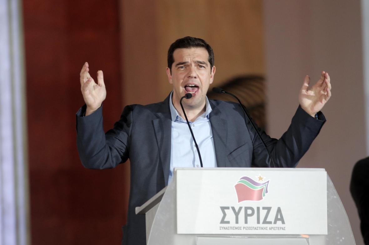 Pravděpodobný příští řecký premiér Alexis Tsipras hovoří po volebním vítězství