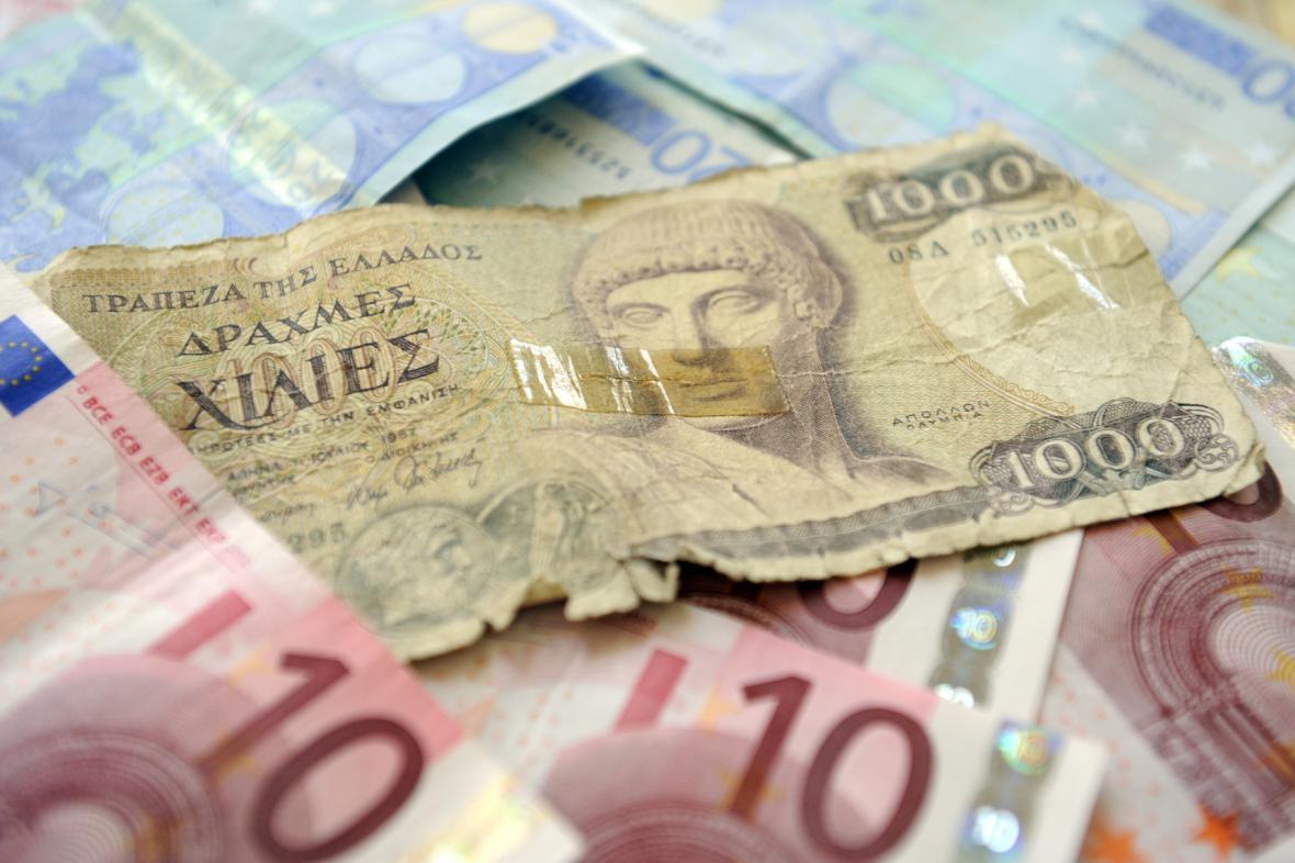Euro vystřídalo drachmu