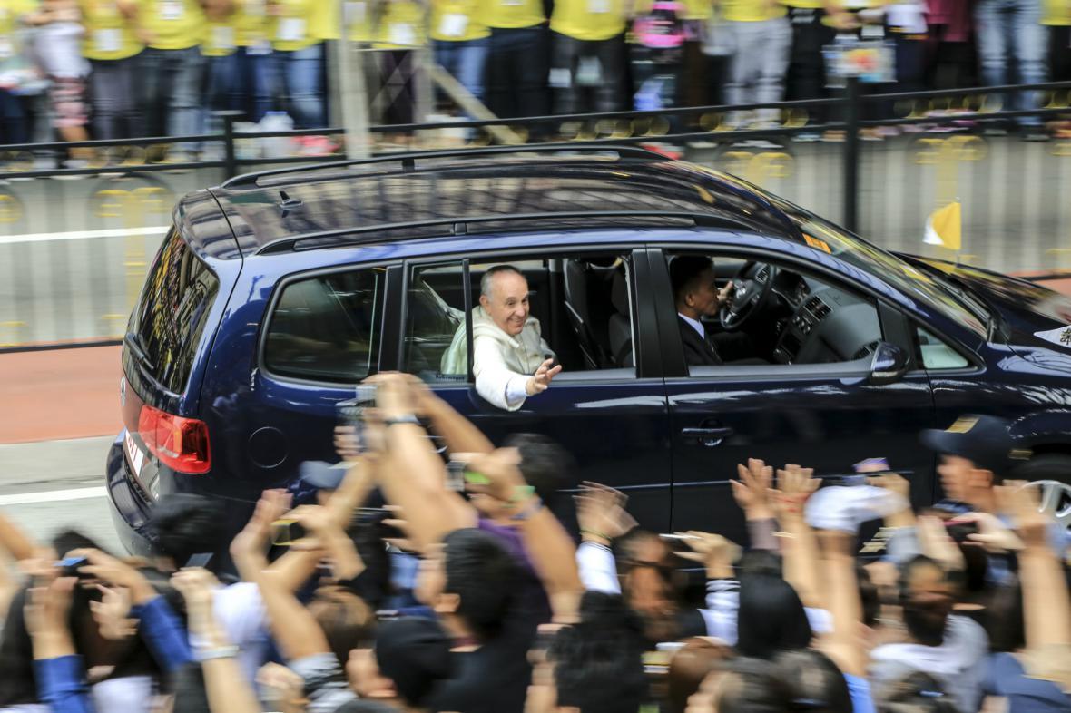 Papež František v Manile