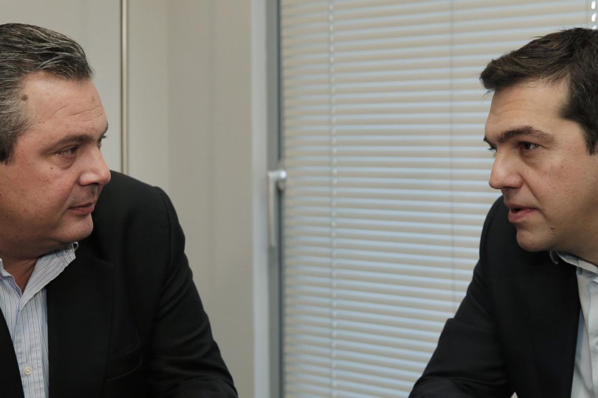Alexis Tsipras a Panos Kammenos