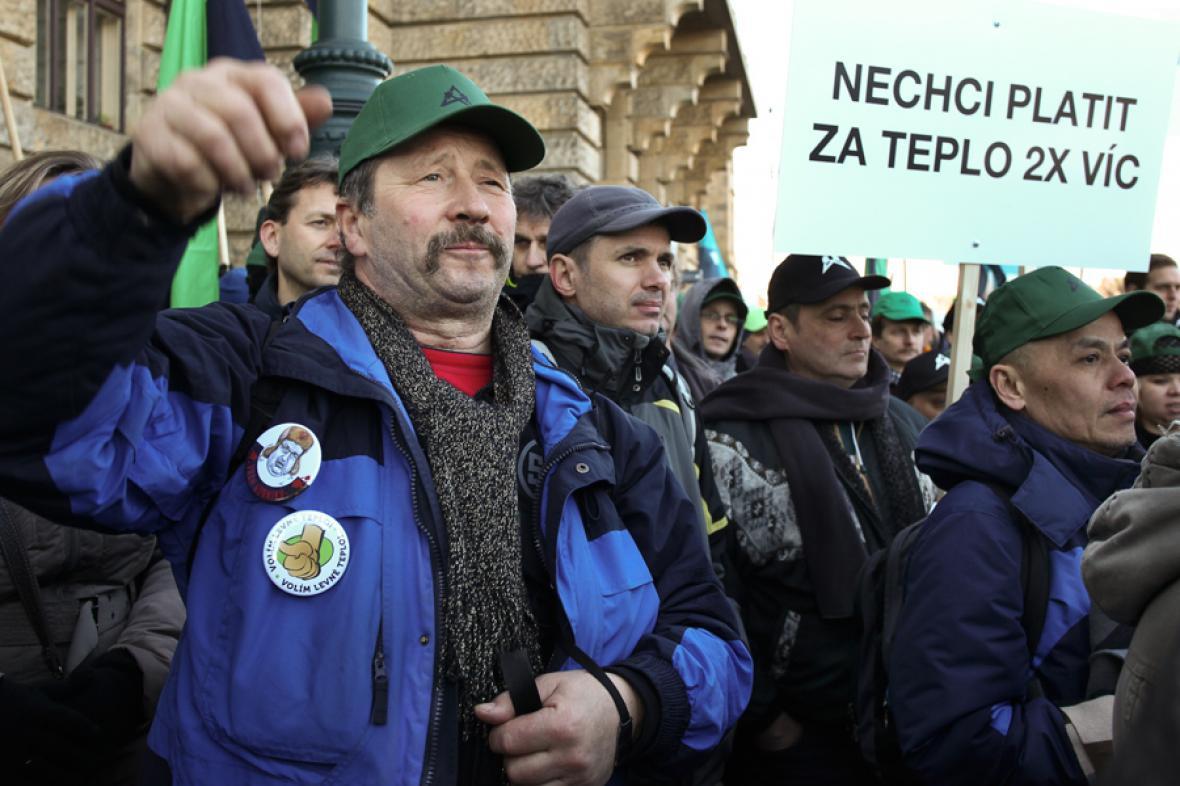 Hornická demonstrace
