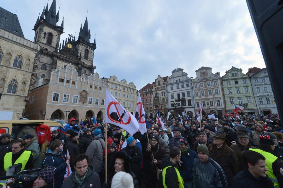 Protiislámská demonstrace v Praze