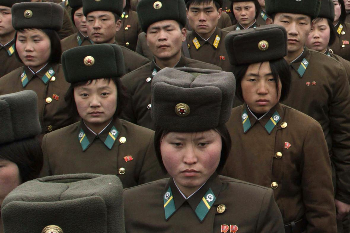 Ženy v severokorejské armádě