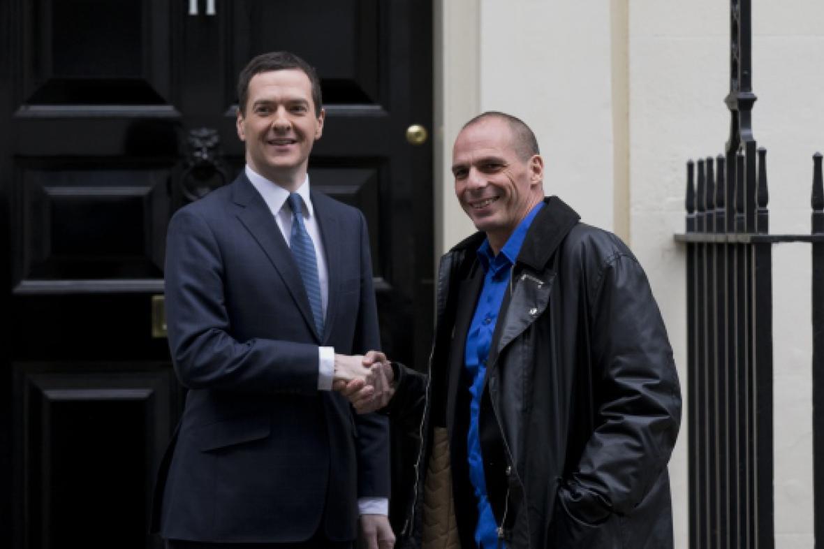 Varufakis se svým britským protějškem Georgem Osbornem