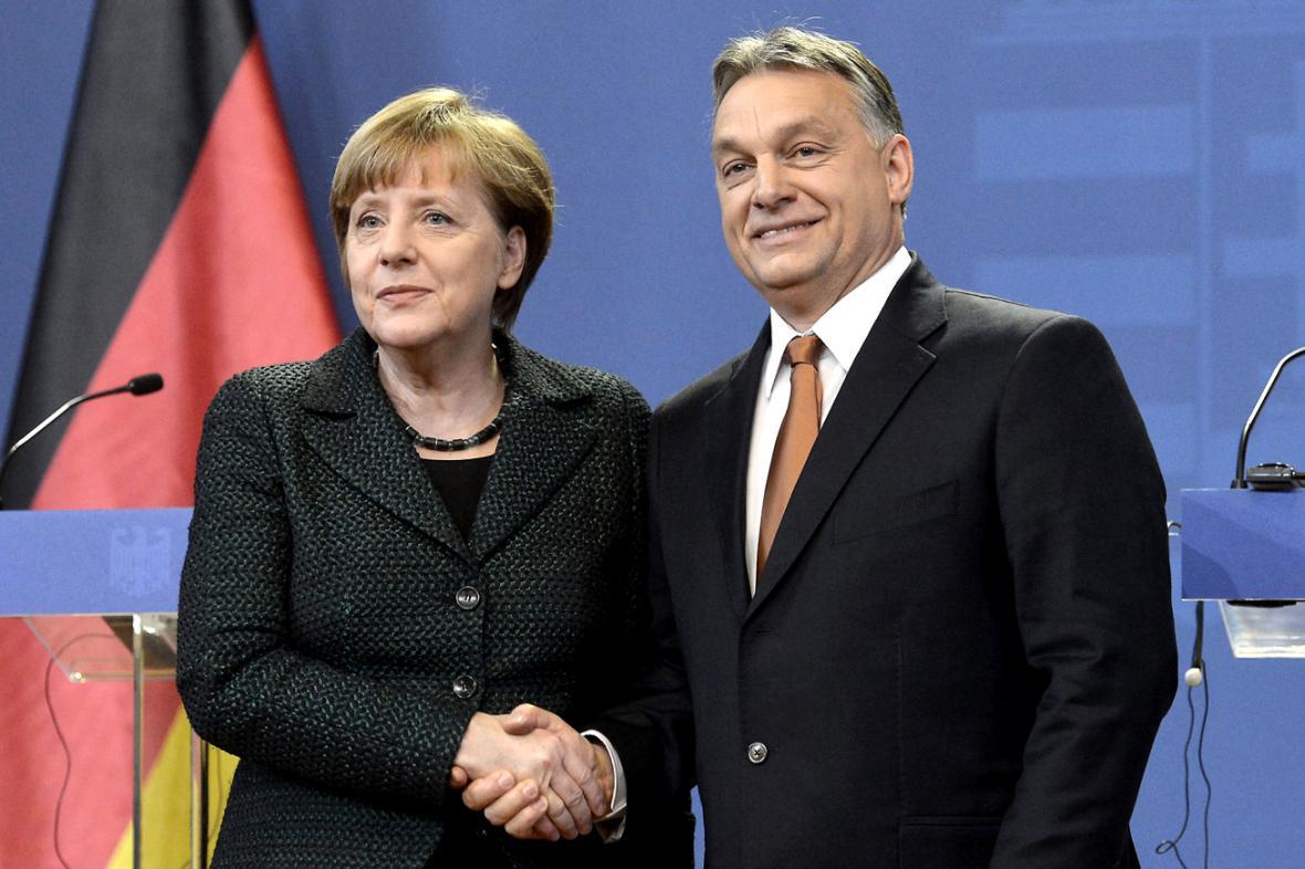 Angela Merkelová a Viktor Orbán