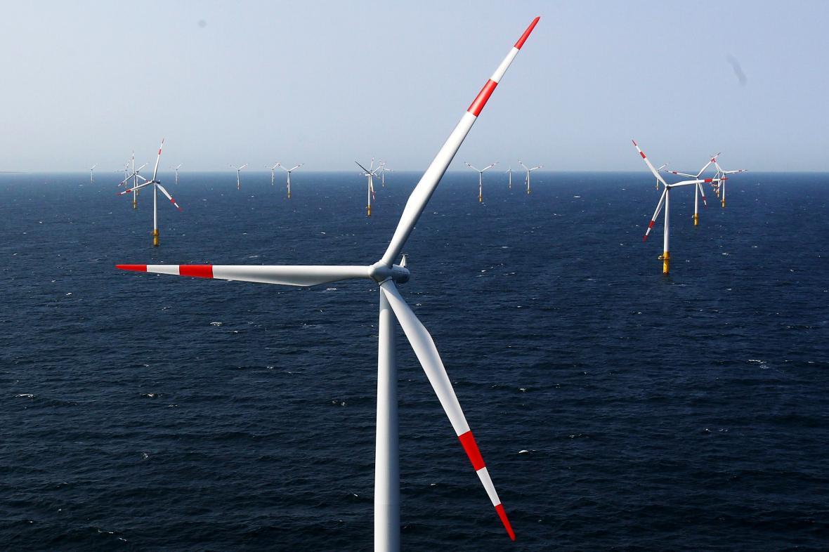 Větrný park v Baltském moři