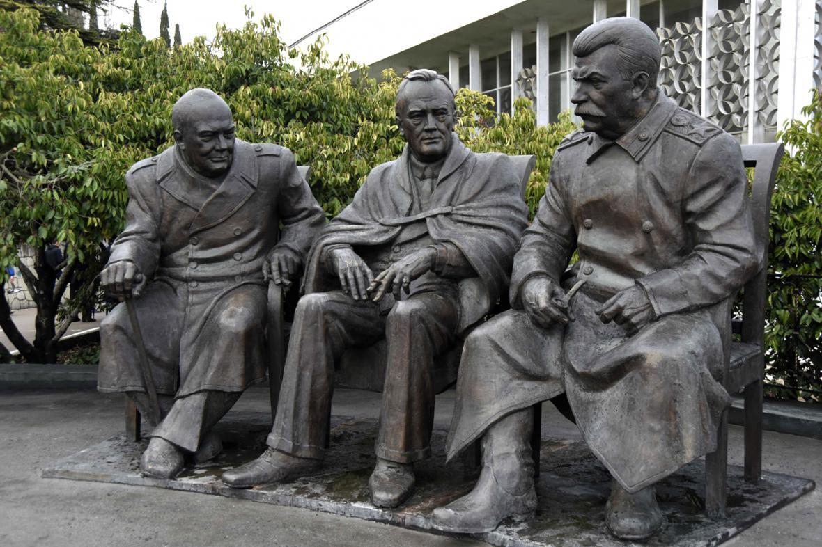 Jaltská konference v únoru 1945