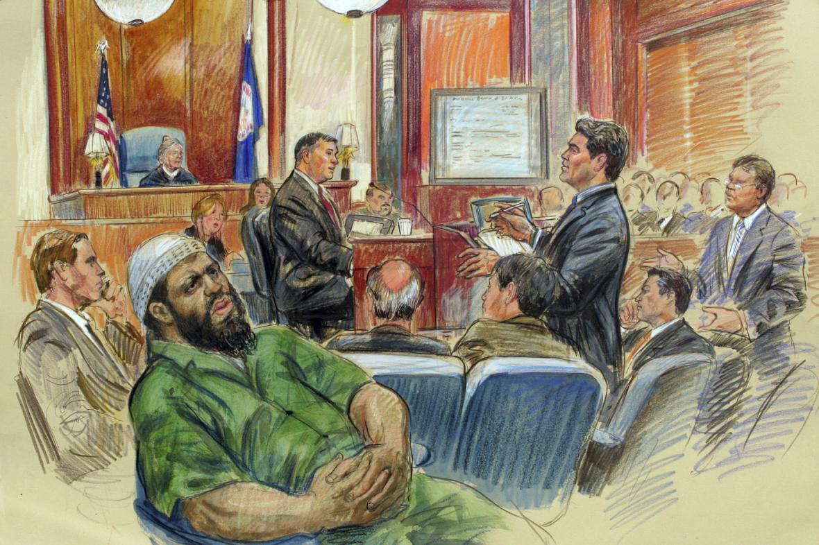 Zacarias Moussaoui před soudem
