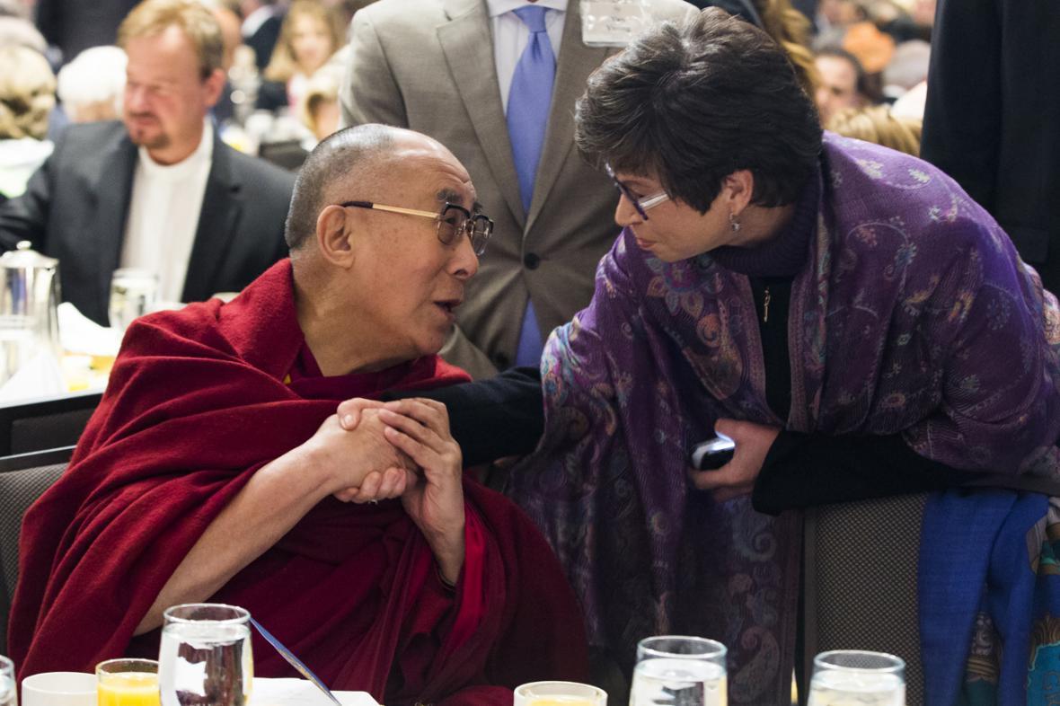 Dalajlama na Národní snídani věřících