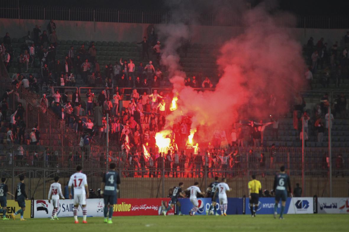 Fotbalový zápas egyptské Premier League se nakonec odehrál