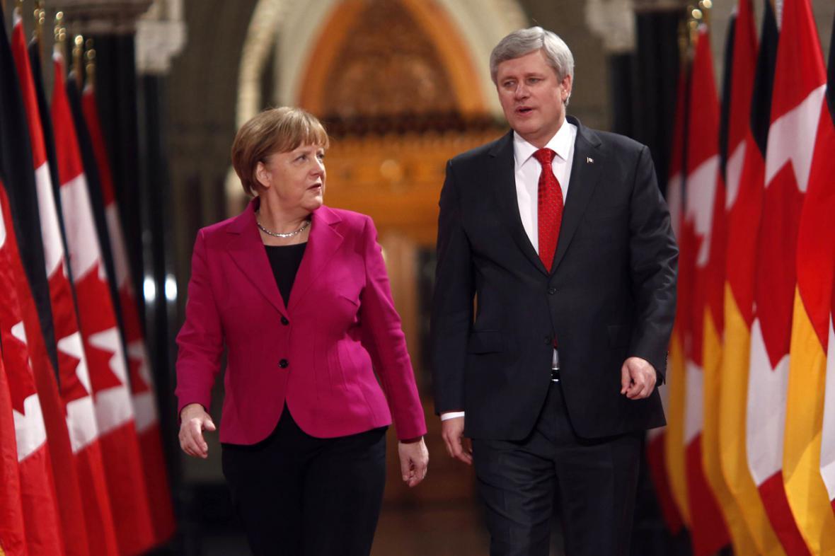 Angela Merkelová a Stephen Harper