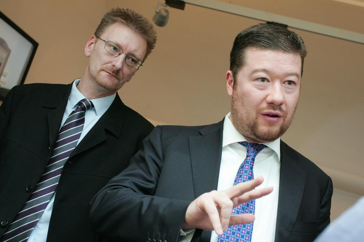 Marek Černoch a Tomio Okamura