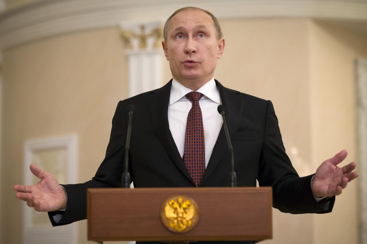 Vladimir Putin v Minsku