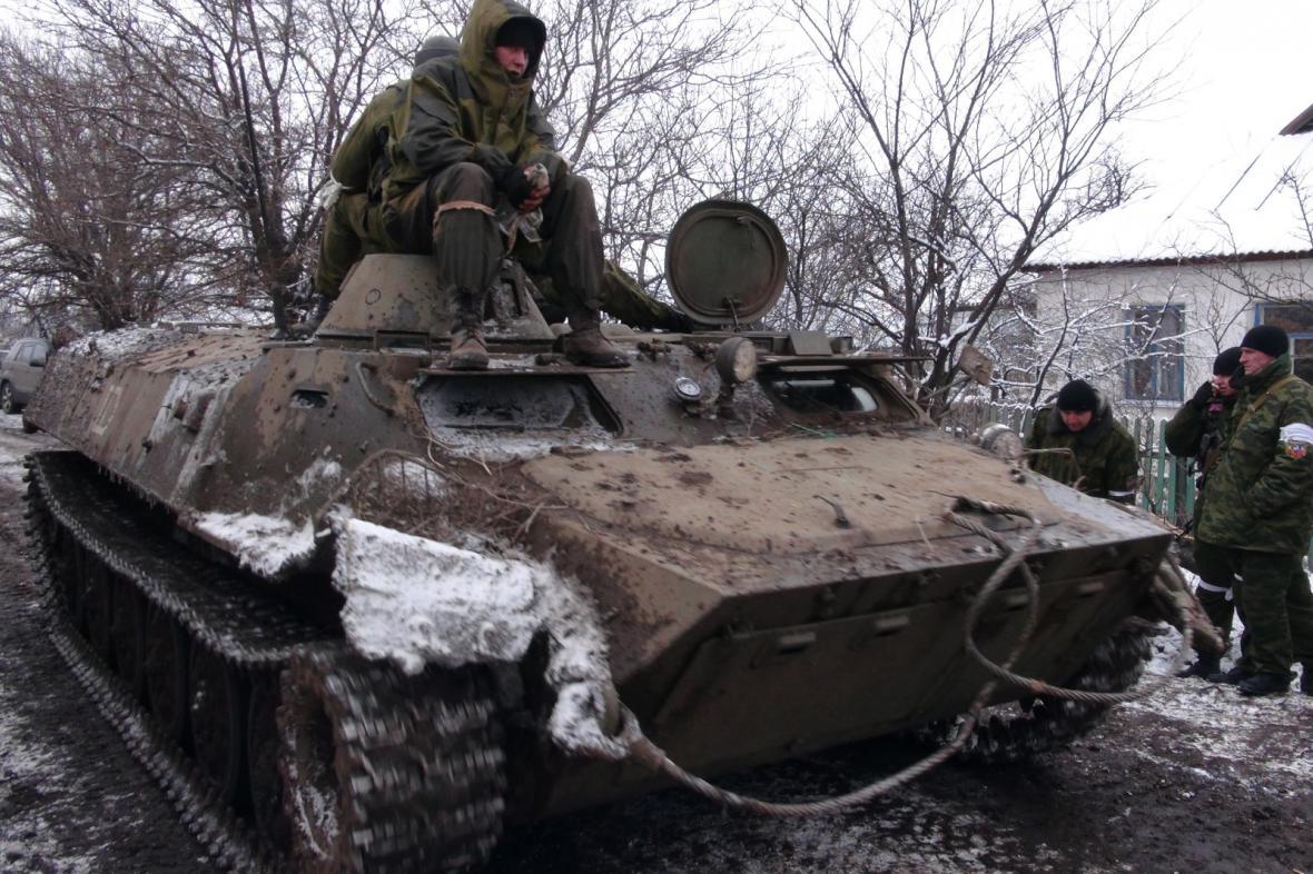 Tanky proruských separatistů