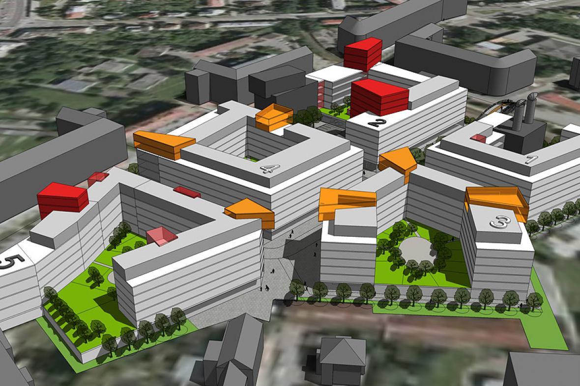 Projekt nové čtvrti v Olomouci