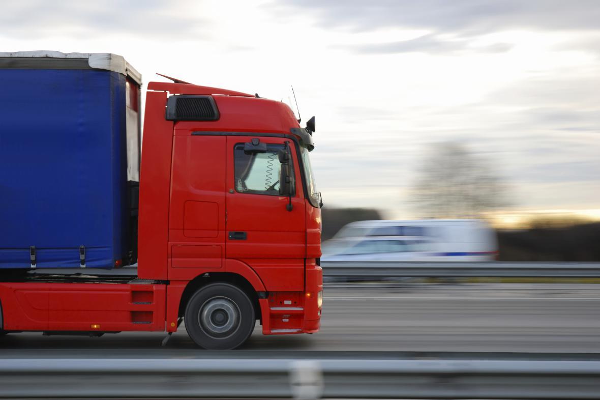 Kamion v Německu