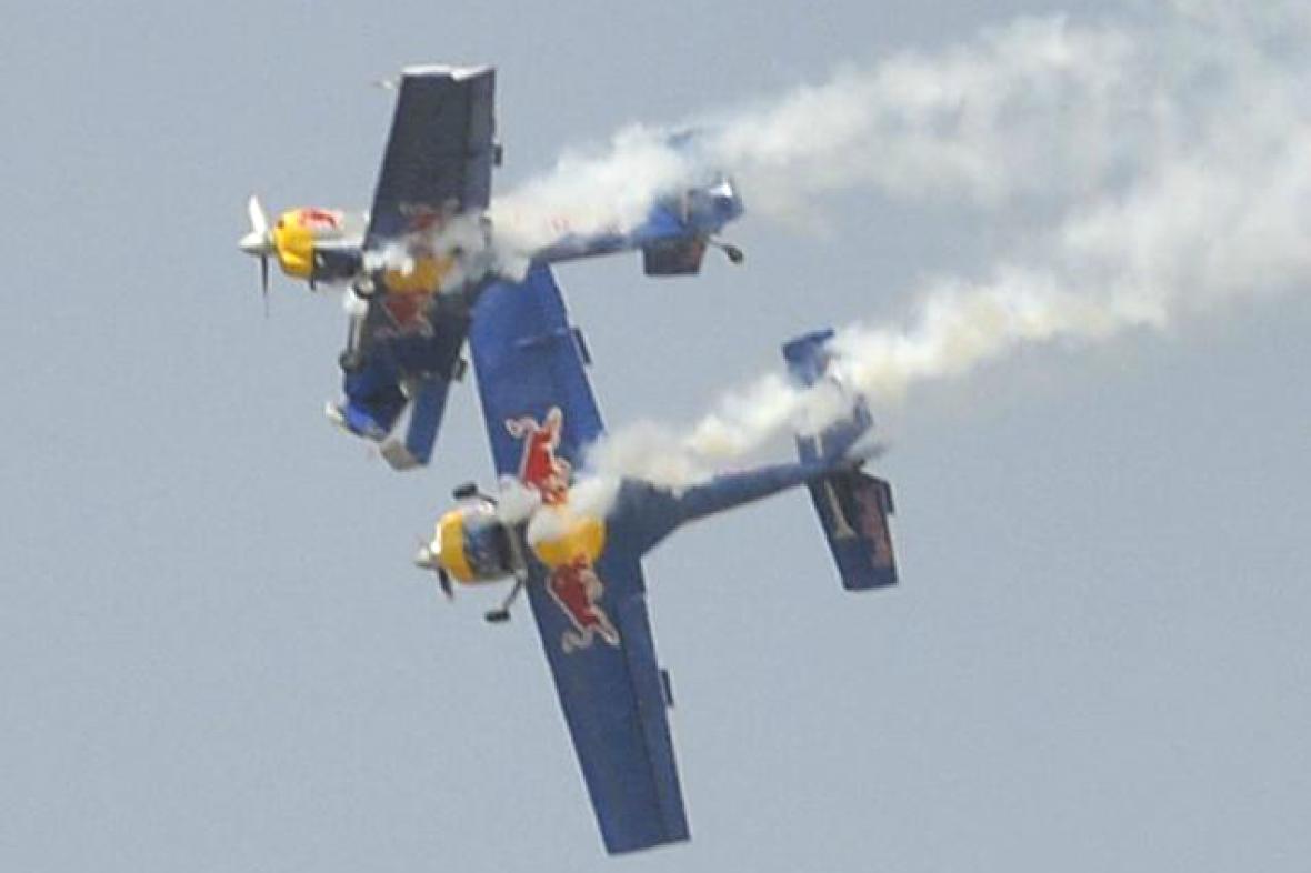 Kolize českých letadel v Indii