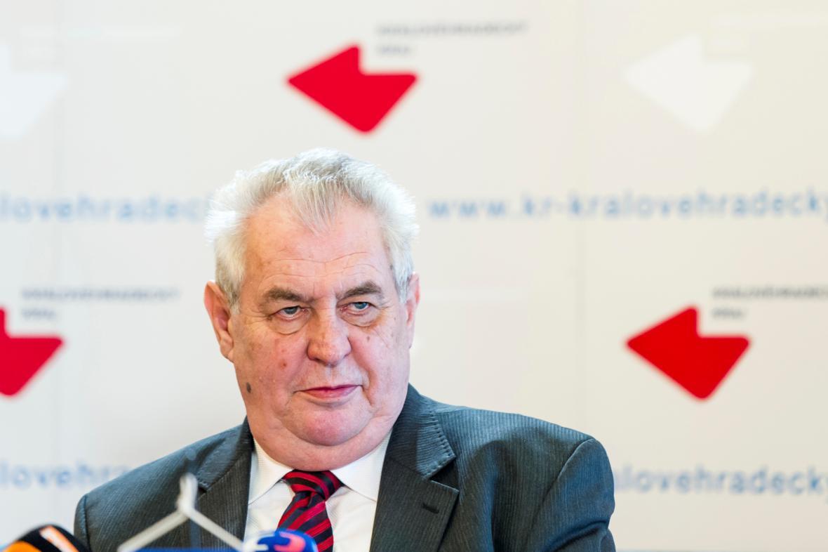 Miloš Zeman na návštěvě Královéhradeckého kraje