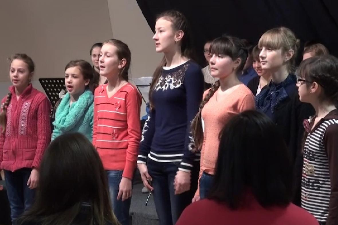 Děti z Ukrajiny na návštěvě na Gymnáziu Příbram